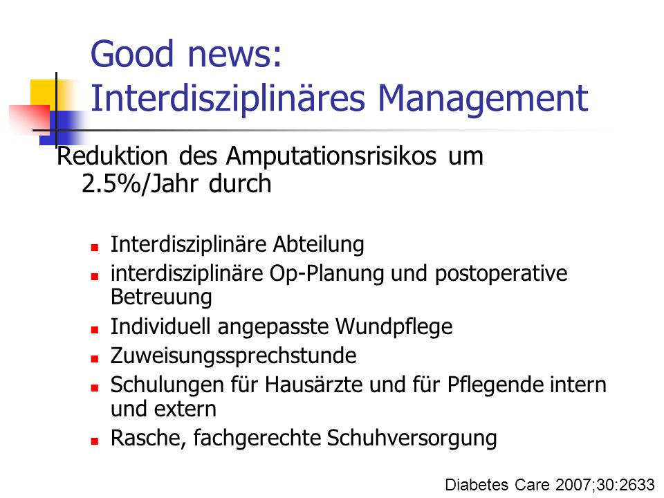 Good news: Interdisziplinäres Management