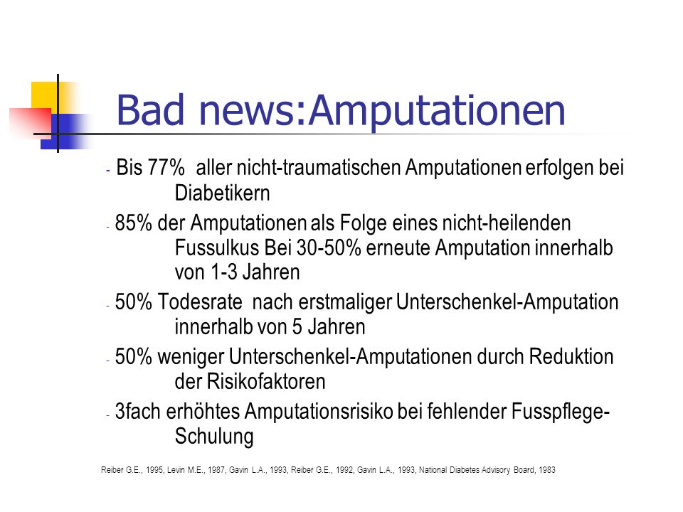 Bad news:Amputationen