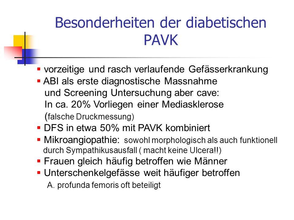 Besonderheiten der diabetischen PAVK