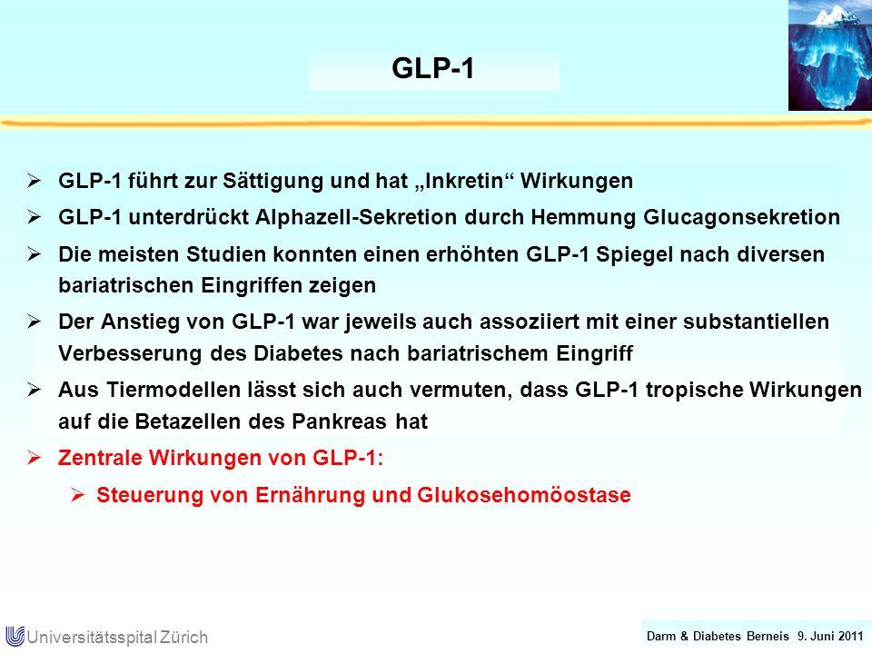 """GLP-1 GLP-1 führt zur Sättigung und hat """"Inkretin Wirkungen"""