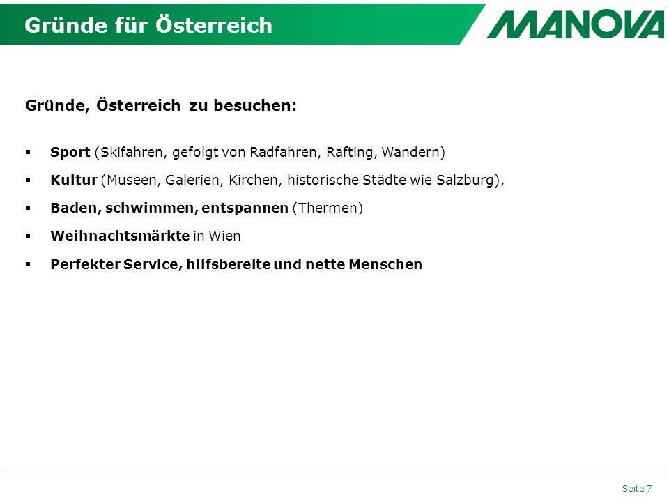 Gründe für Österreich Gründe, Österreich zu besuchen: