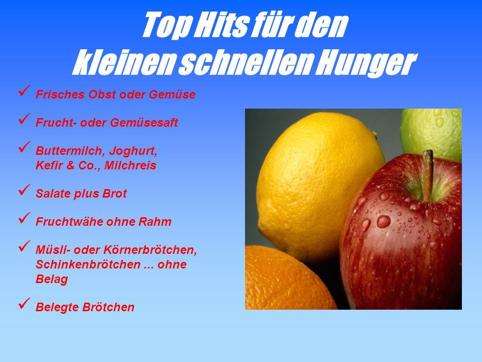 Top Hits für den kleinen schnellen Hunger