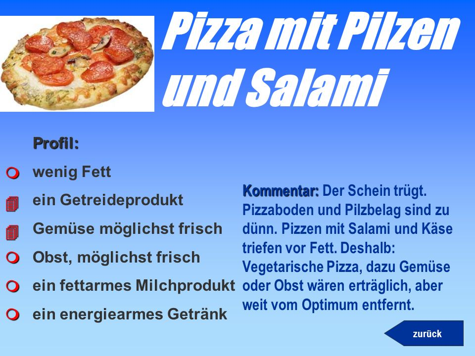 Pizza mit Pilzen und Salami
