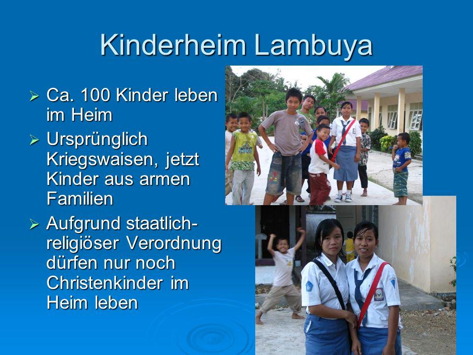Kinderheim Lambuya Ca. 100 Kinder leben im Heim