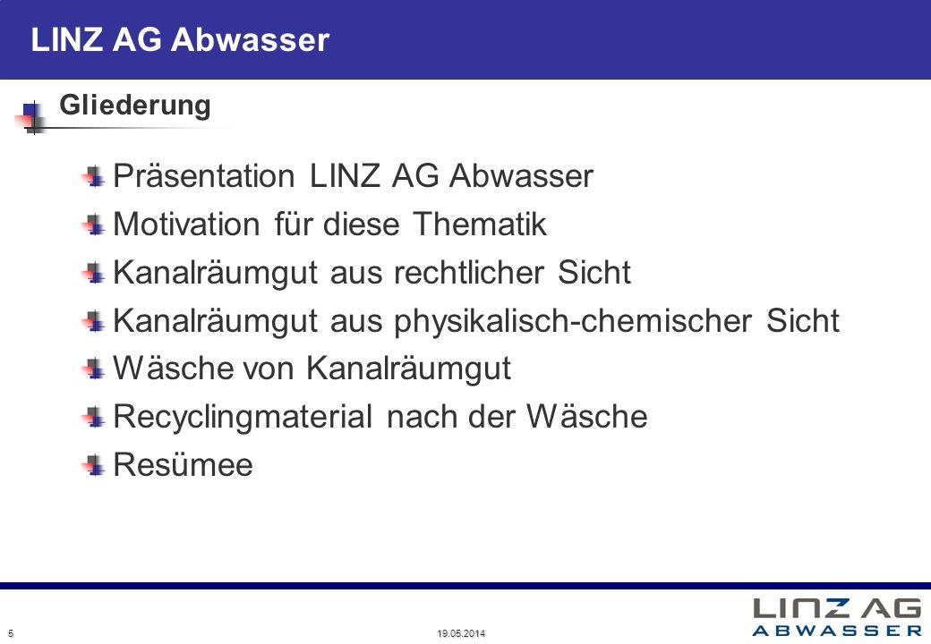 Präsentation LINZ AG Abwasser Motivation für diese Thematik