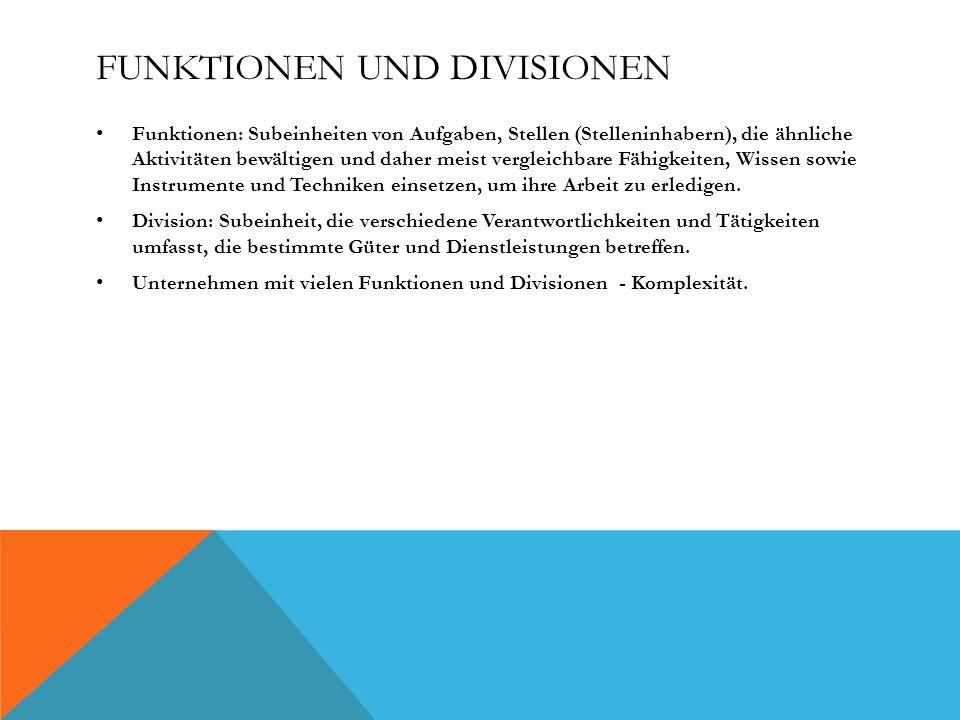 Funktionen und Divisionen