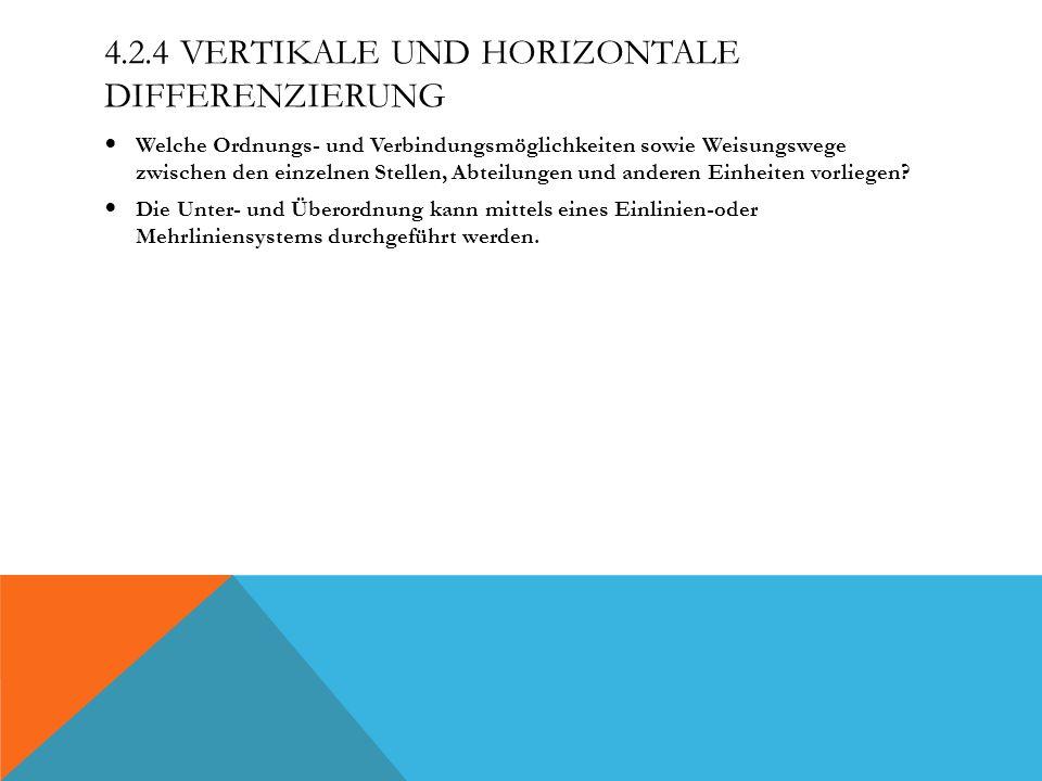 4.2.4 Vertikale und horizontale Differenzierung