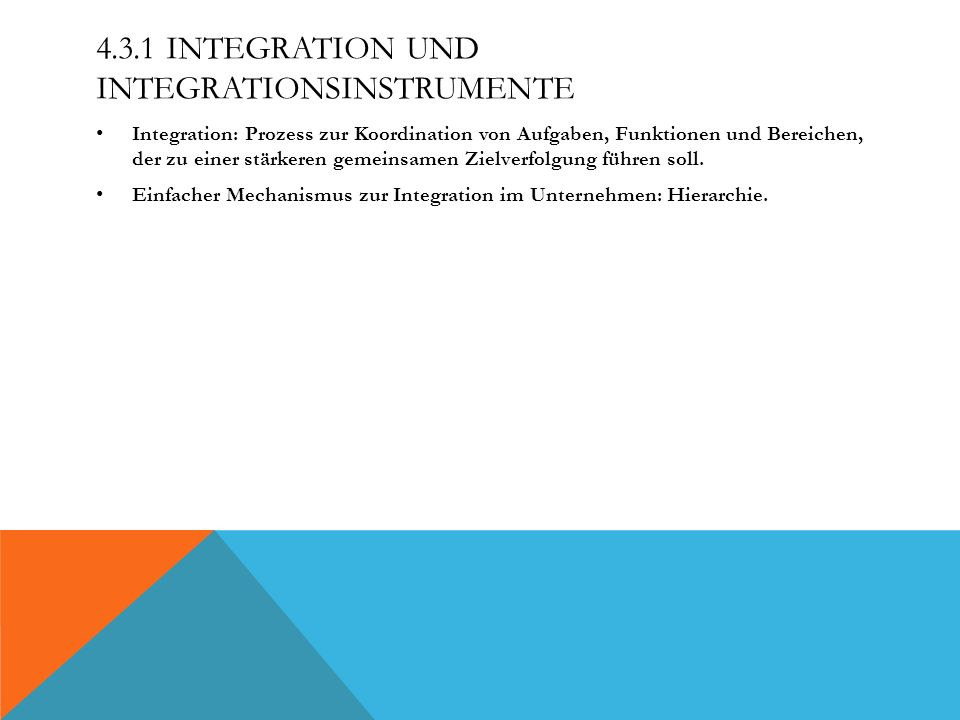 4.3.1 Integration und Integrationsinstrumente