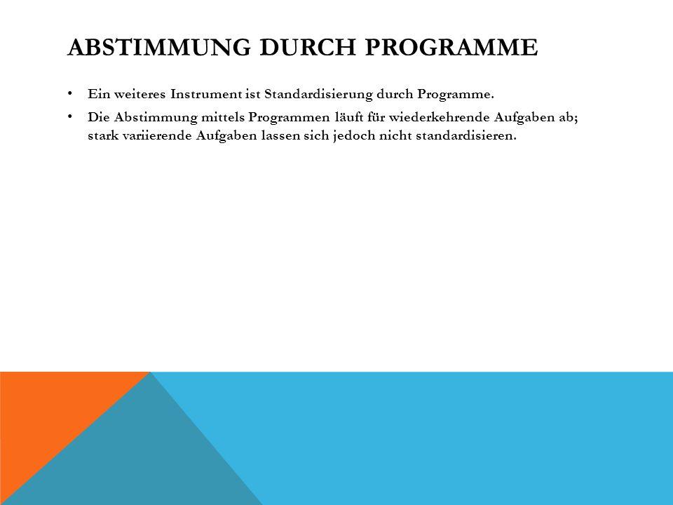 Abstimmung durch Programme