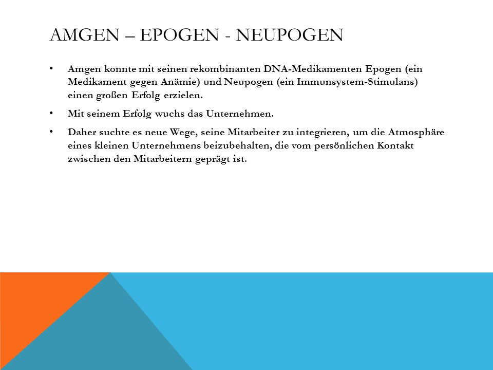 Amgen – Epogen - Neupogen