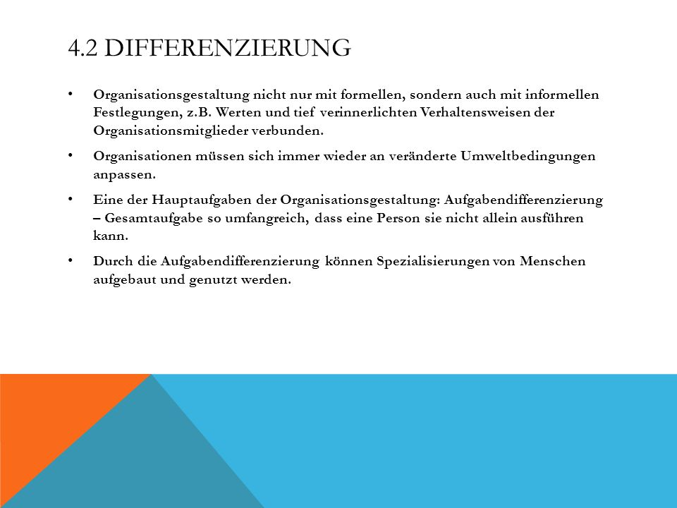 4.2 Differenzierung