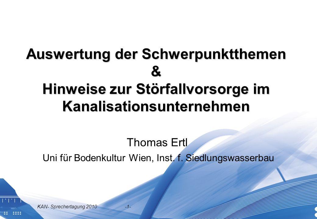 Thomas Ertl Uni für Bodenkultur Wien, Inst. f. Siedlungswasserbau