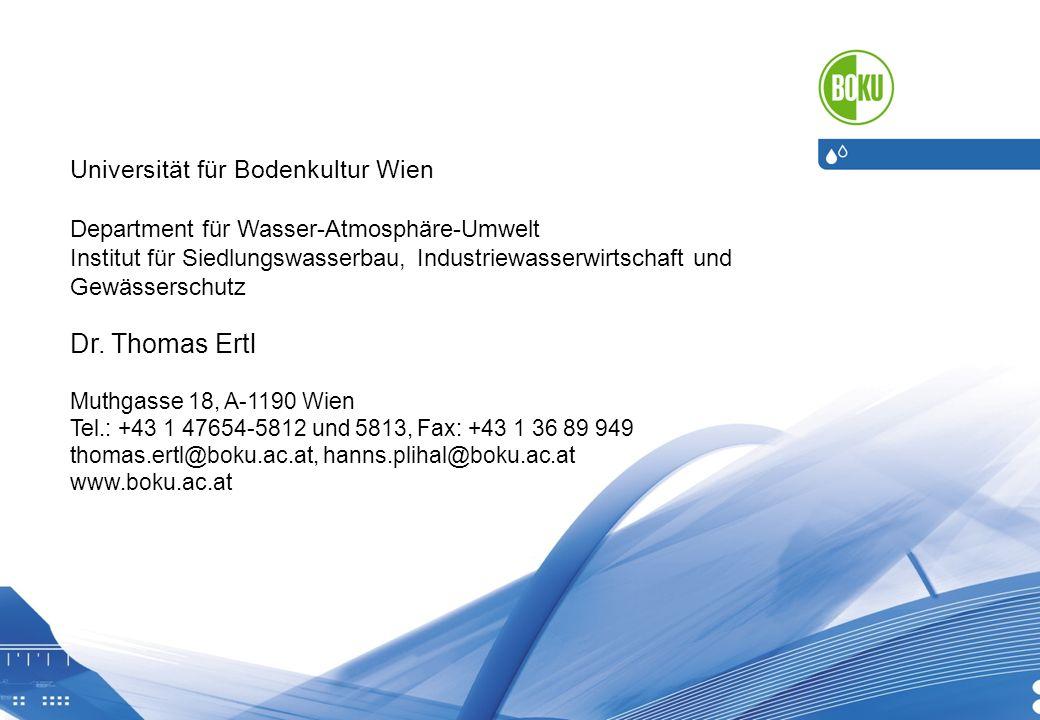 Dr. Thomas Ertl Universität für Bodenkultur Wien