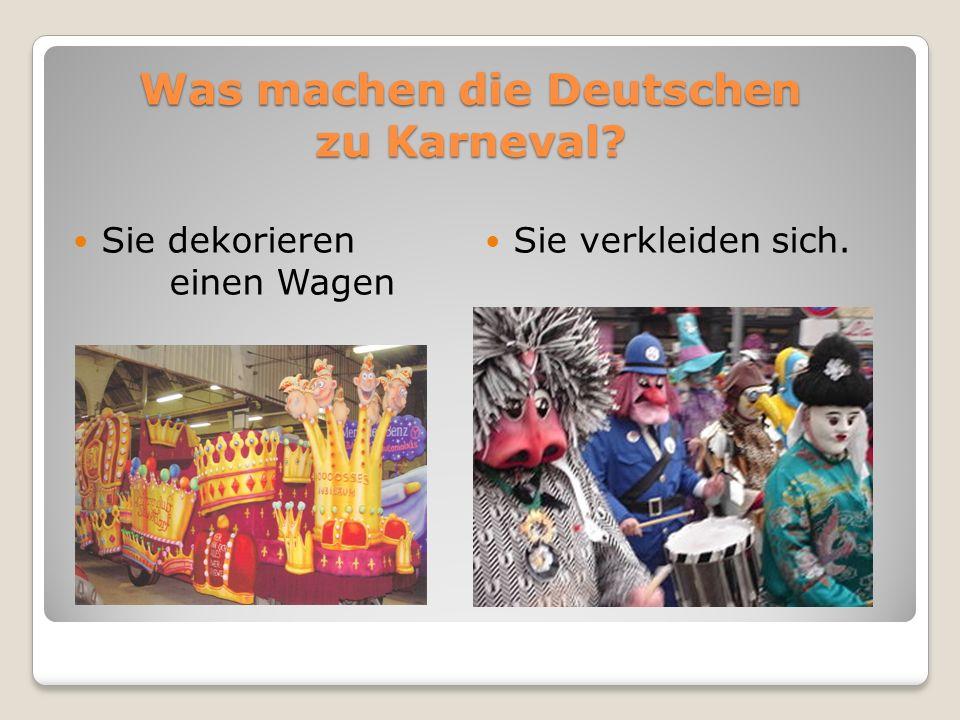 Was machen die Deutschen zu Karneval