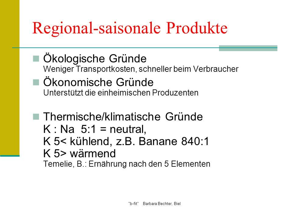 Regional-saisonale Produkte