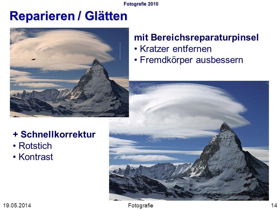 Fotografie 2010 Reparieren / Glätten