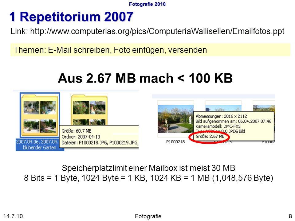 Fotografie 2010 1 Repetitorium 2007