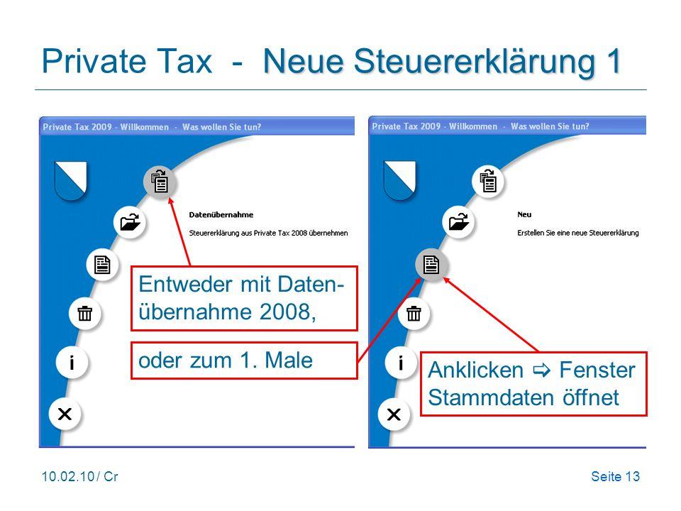 Private Tax - Neue Steuererklärung 1