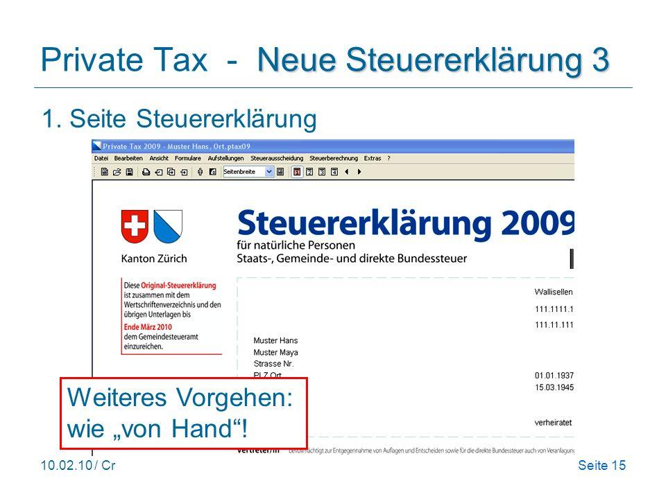 Private Tax - Neue Steuererklärung 3