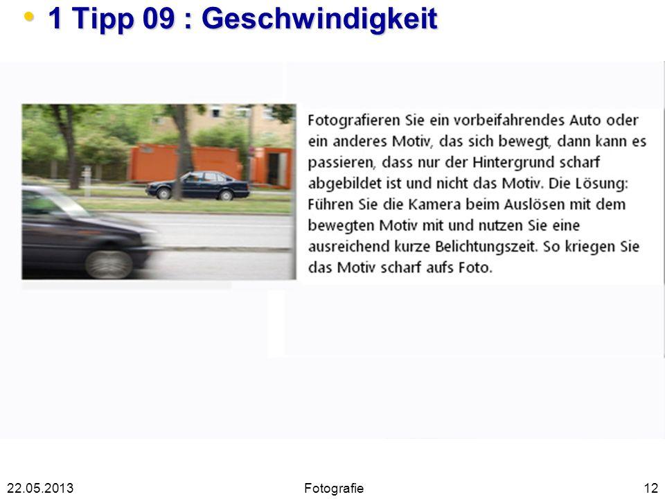 1 Tipp 09 : Geschwindigkeit