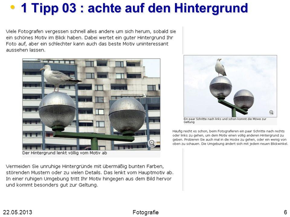 1 Tipp 03 : achte auf den Hintergrund