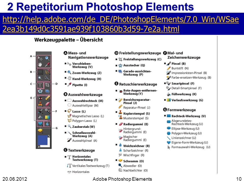 2 Repetitorium Photoshop Elements