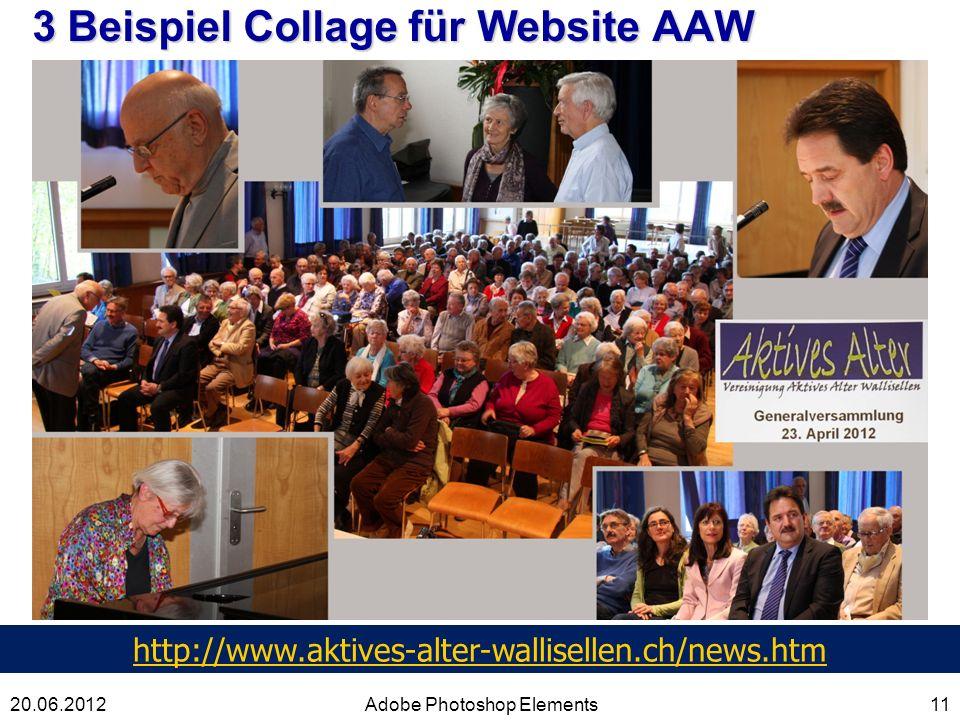 3 Beispiel Collage für Website AAW