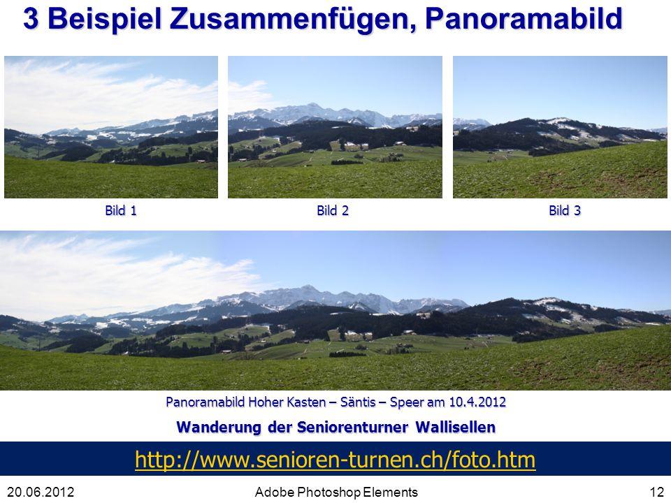 3 Beispiel Zusammenfügen, Panoramabild