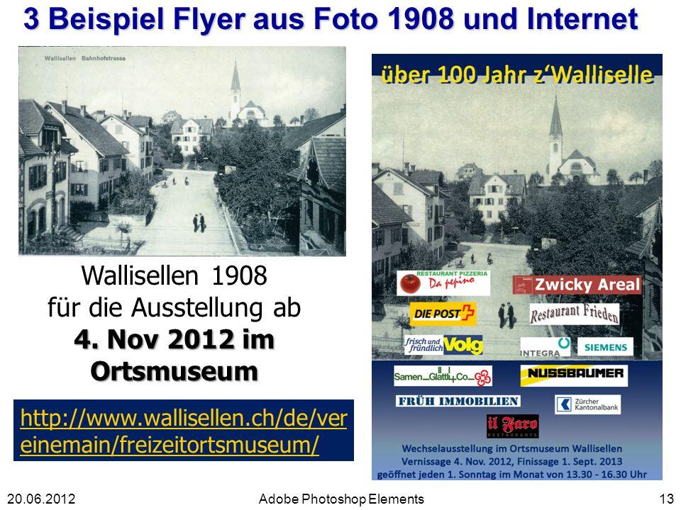 3 Beispiel Flyer aus Foto 1908 und Internet