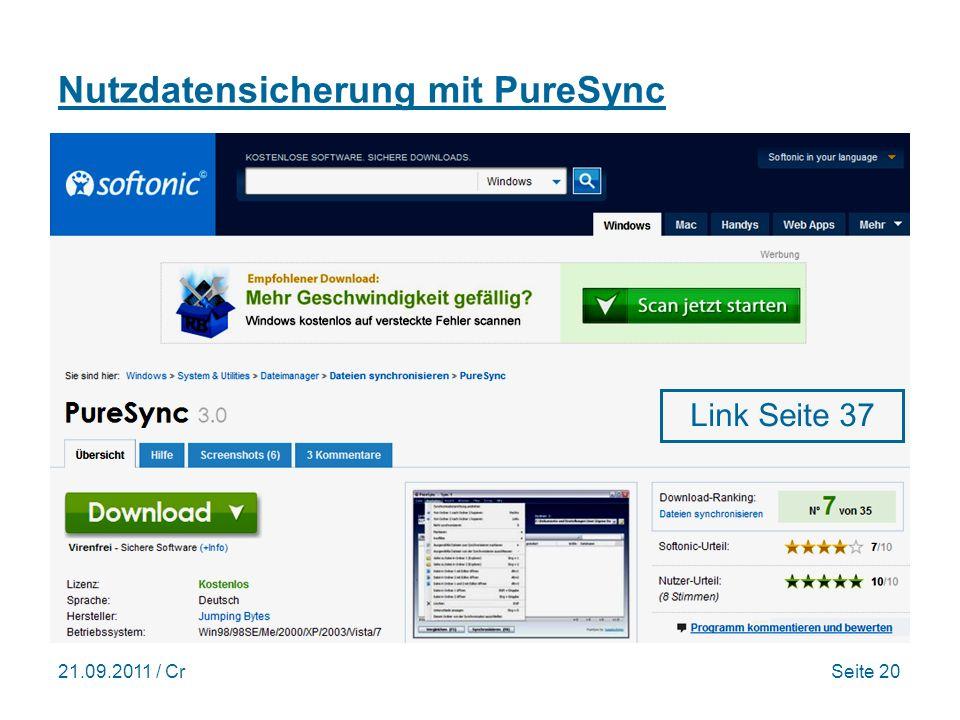 Nutzdatensicherung mit PureSync