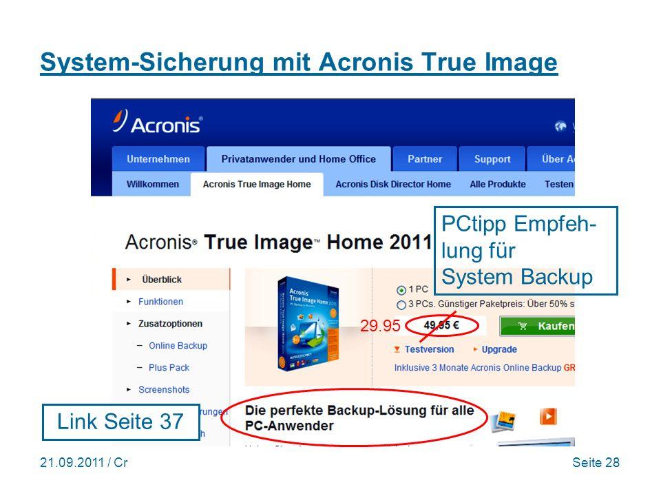 System-Sicherung mit Acronis True Image