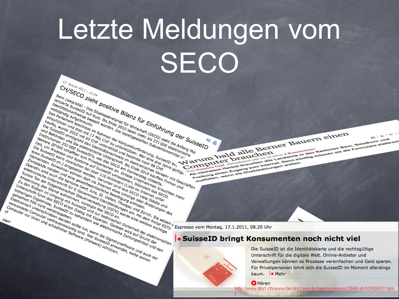 Letzte Meldungen vom SECO