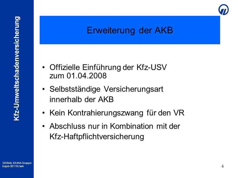 Erweiterung der AKB Offizielle Einführung der Kfz-USV zum 01.04.2008