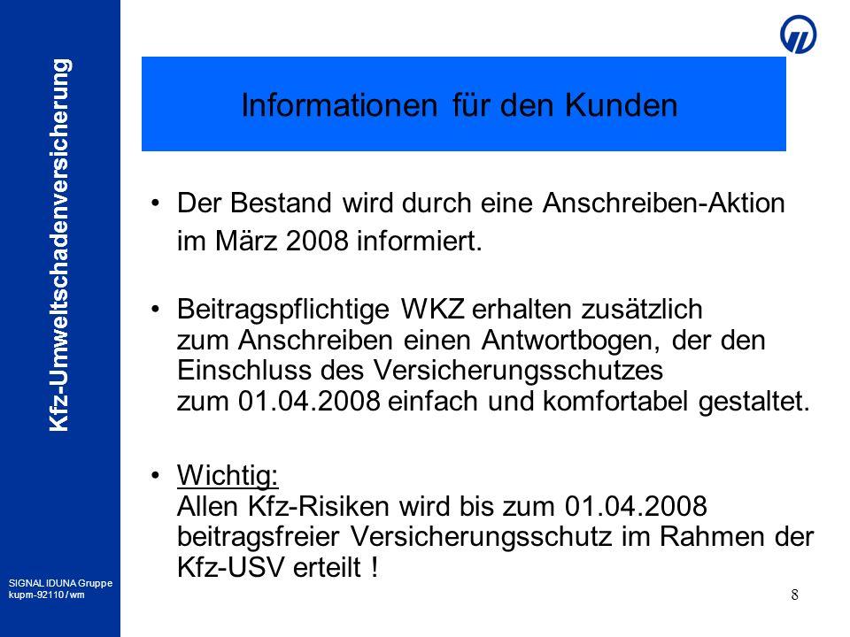 Informationen für den Kunden