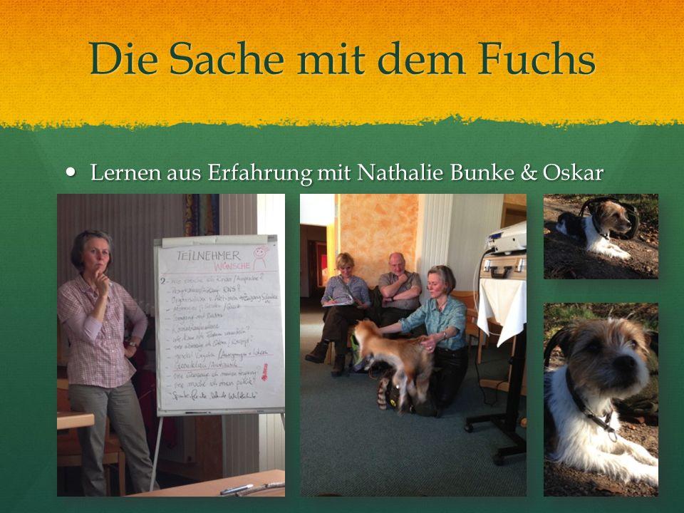Die Sache mit dem Fuchs Lernen aus Erfahrung mit Nathalie Bunke & Oskar
