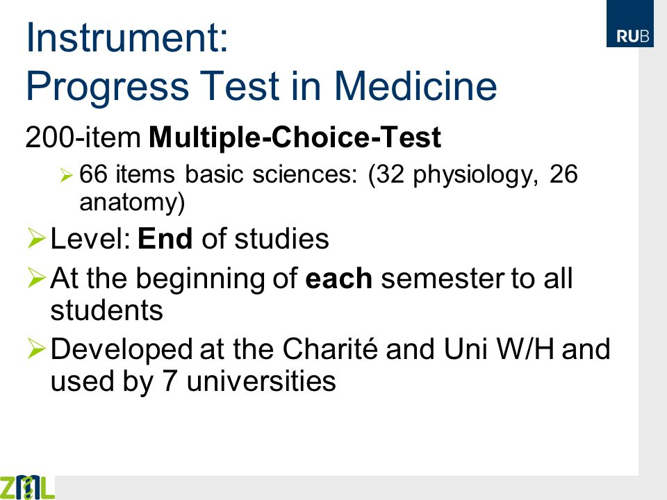 Instrument: Progress Test in Medicine