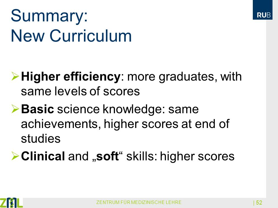 Summary: New Curriculum