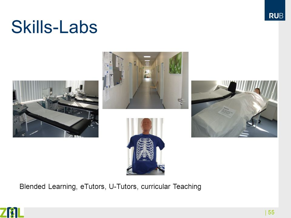 Skills-Labs Blended Learning, eTutors, U-Tutors, curricular Teaching