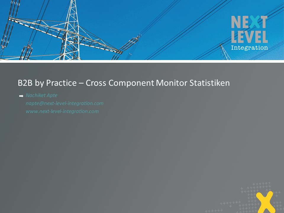 B2B by Practice – Cross Component Monitor Statistiken