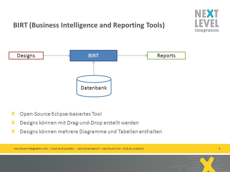 BIRT (Business Intelligence and Reporting Tools)