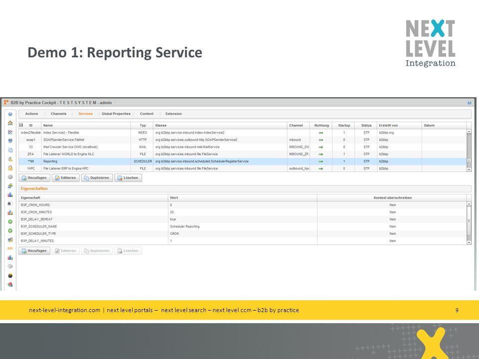 Demo 1: Reporting Service