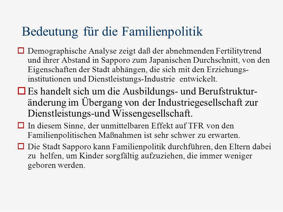 Bedeutung für die Familienpolitik