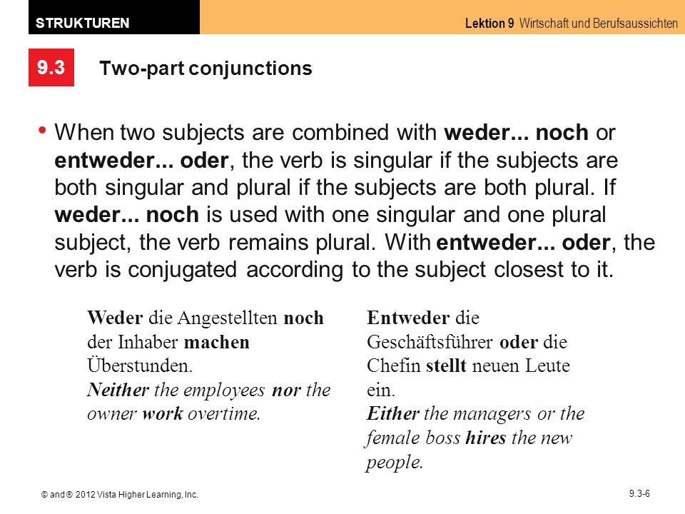 Two-part conjunctions