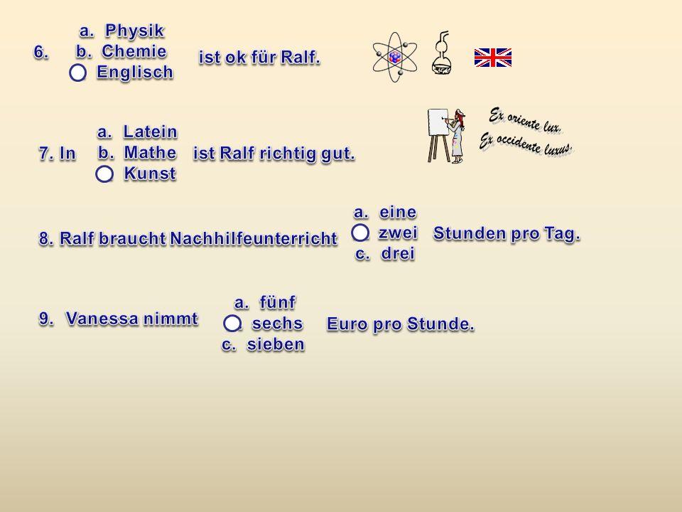 8. Ralf braucht Nachhilfeunterricht