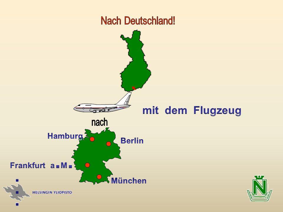 mit dem Flugzeug Hamburg Berlin Frankfurt a.M. München