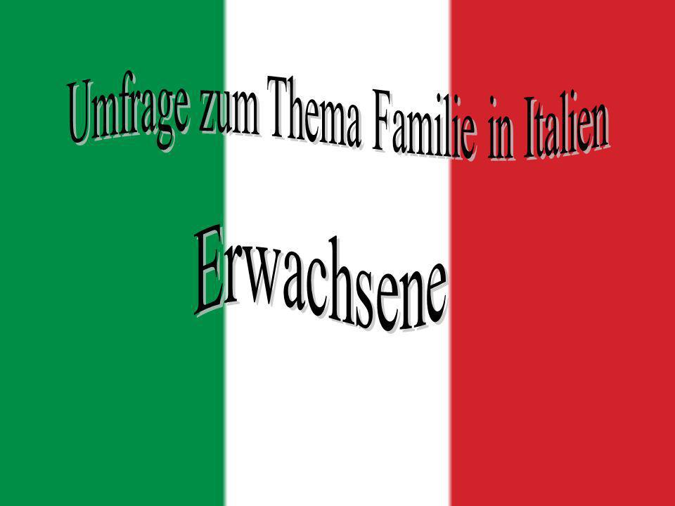 Umfrage zum Thema Familie in Italien