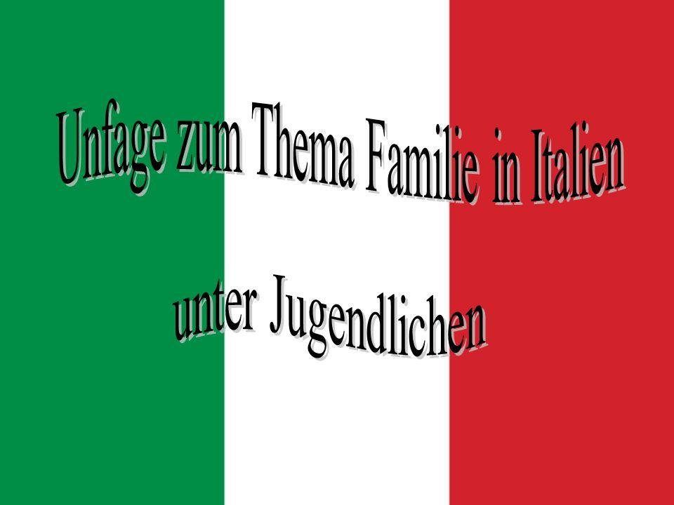 Unfage zum Thema Familie in Italien