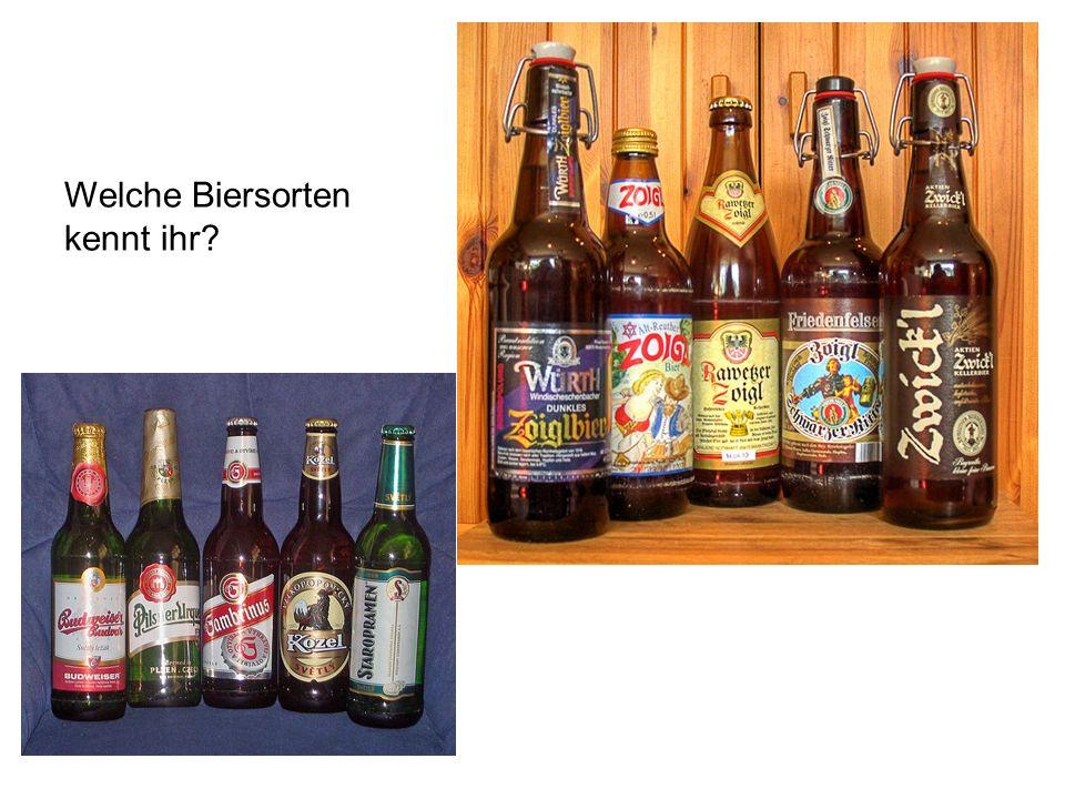 Welche Biersorten kennt ihr
