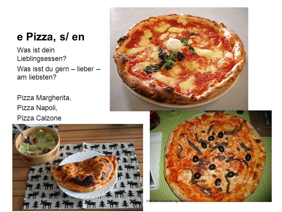e Pizza, s/ en Was ist dein Lieblingsessen