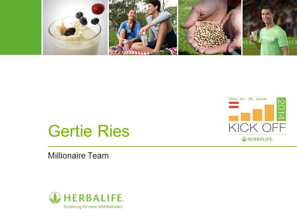 Gertie Ries Millionaire Team
